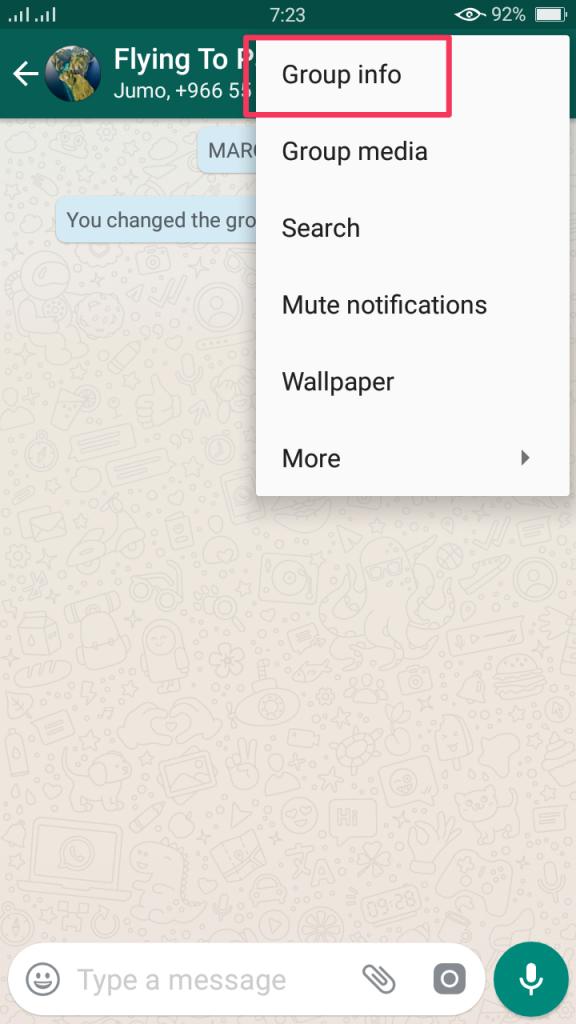Setup by setup get whatsapp group link