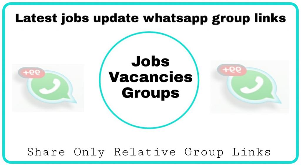 New jobs whatsapp group links