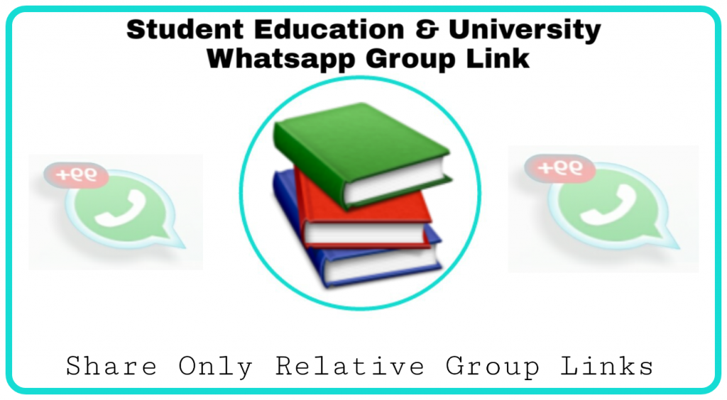 Student whatsapp group links