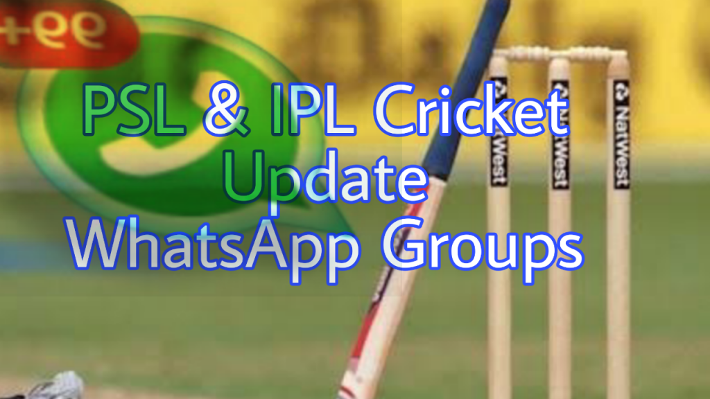 IPL PSL Cricket Whatsapp Group Links