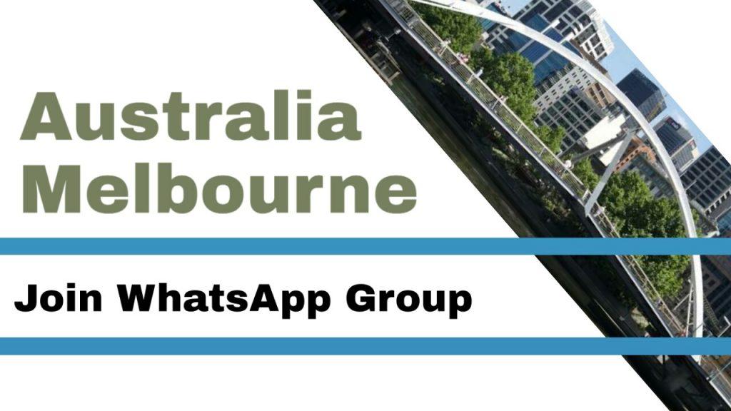 Australia, Melbourne whatsapp group link
