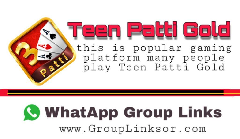 Teen Patti Gold Whatsapp Group Link