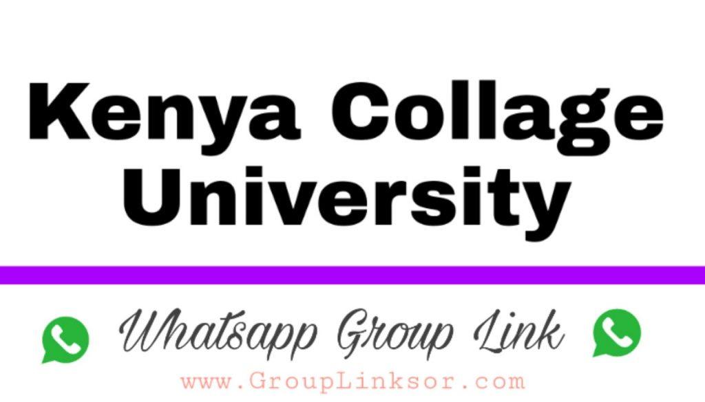 Kenya, collage University whatsapp group link